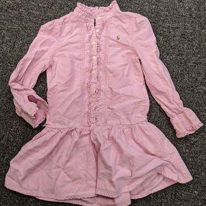 Ralph Lauren pink ruffle dress size 5